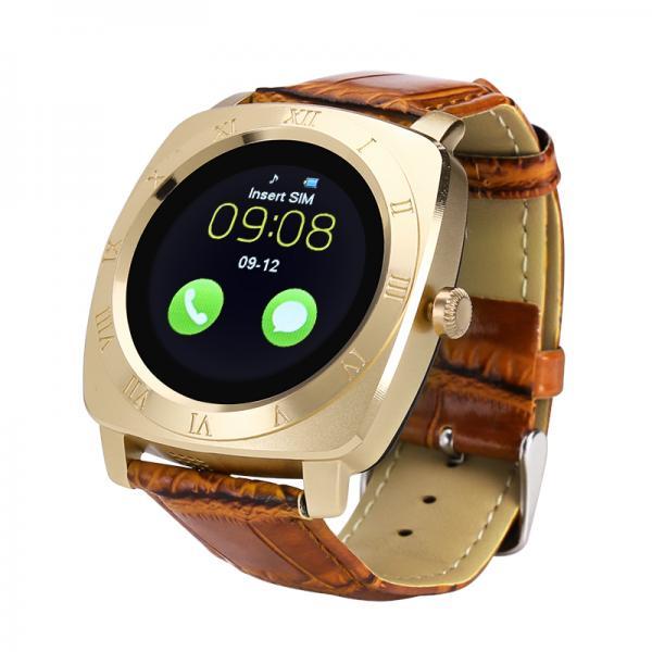 Iradish X3 Smartwatch - 1.33 Inch IPS Display, 240x240 Resolution, Quad Band SIM Support, Pedometer, Sleep Tracker (Gold)
