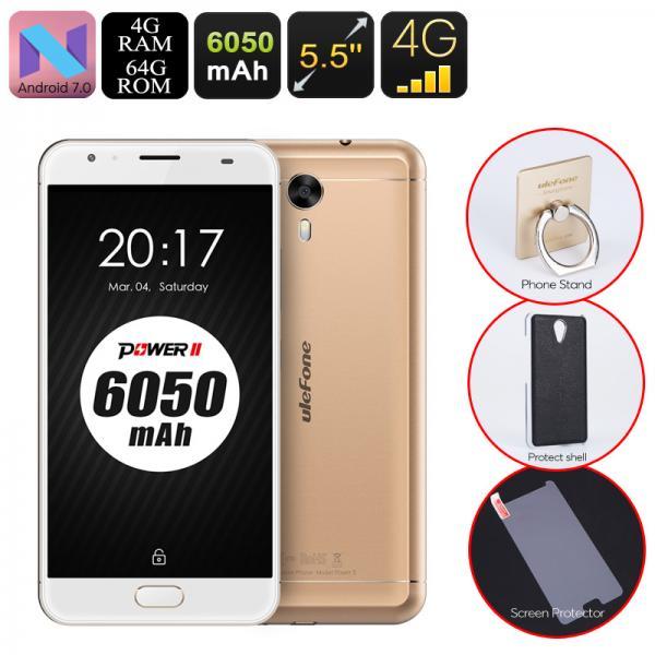 HK Warehouse Android Phone Ulefone Power 2 - Octa-Core CPU, 4GB RAM, 6050mAh, 1080p, 2 IMEI, 4G, 13MP Cam (Gold)