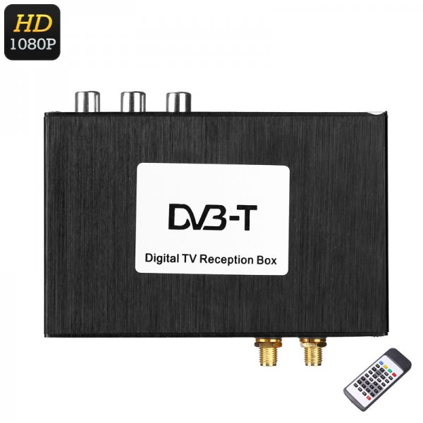 Digital TV Receiver Box - Two Way Video, Multi-Language Subtitle Support, Dual Antenna, 1080p Support, Wide Frequency Range