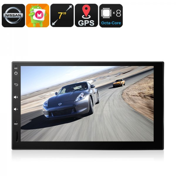 2 DIN Car Stereo For Nissan - GPS, Android 6.0, Android Maps, 3G Dongle Support, CAN BUS, Bluetooth, Models 2003 To 17