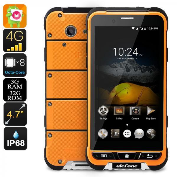 HK Warehouse Ulefone Armor Smartphone - IP68, Gorilla Glass 3, Android 6.0, Octa-Core CPU, 3GB RAM, 13MP Cam (Orange)