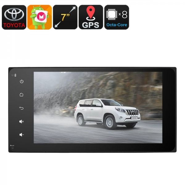 2 DIN Car Stereo - Universal Toyota, 7 Inch Display, Android 6.0, Bluetooth, 3G Support, WiFi, GPS, Octa-Core CPU, 2GB RAM