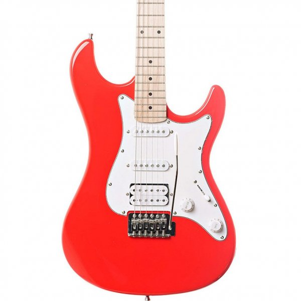 Eastcoast GS100H-RED HSS Electric Guitar, Race Red