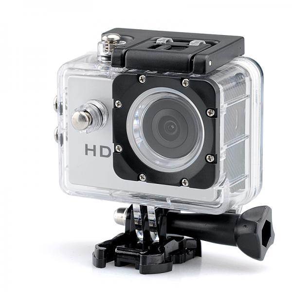 720p HD Sport Camera - 2.0 Megapixels CMOS Sensor, 140 Degree Lens Angle, 30 Meter Waterproof Range