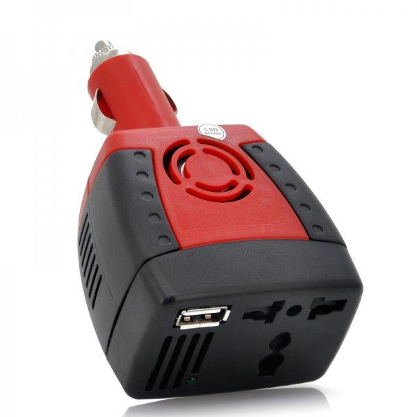 150W Car Power Inverter - 12V DC to 220V AC + 5V USB Port