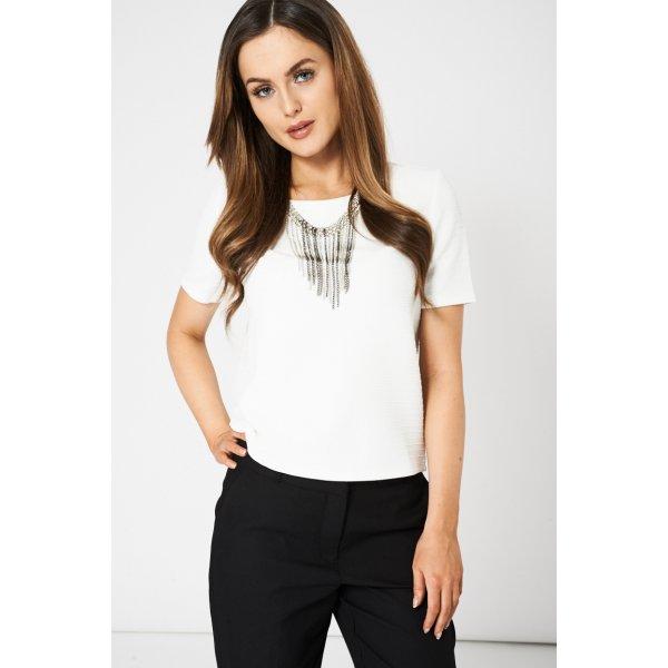 Embellished Neckline White 9006 Ex-Branded -- 97% Polyester 3% Elastane --- select 'color' and 'size' in order remarks