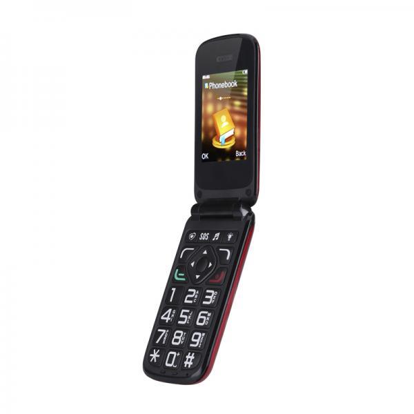 VKWorld Z2 Seniors Mobile Phone - Loud Speaker, Large Keys, Intelligent Speak Function, Dual SIM, Camera, Micro SD Slot (Red)