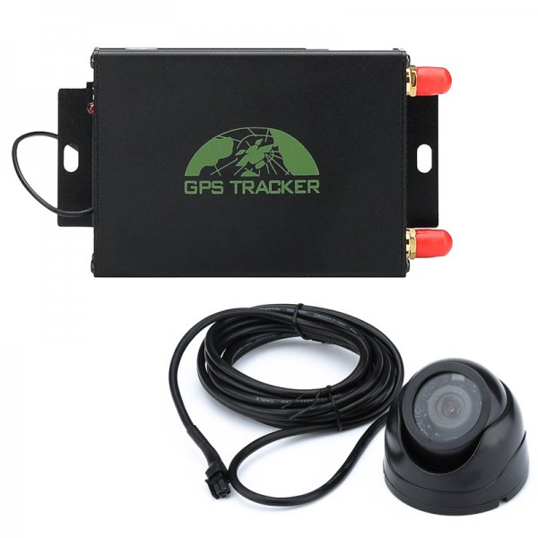 Vehicle GPS Tracker - Support Quad-Band SIM, GPS + LBS, SMS Alerts, Geo Fencing, Real Time Tracking, Phone App, Camera