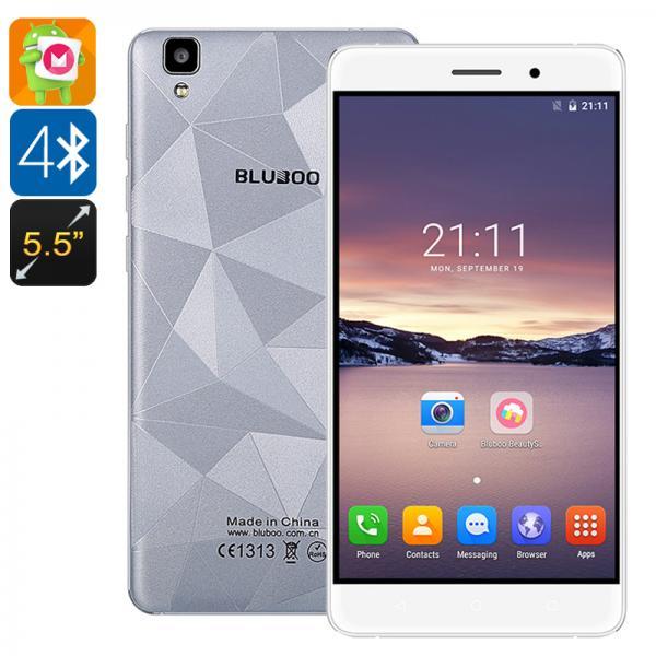 Bluboo Maya Smartphone - Android 6.0, Double IMEI, 5.5 Inch Display, 720P, Quad-Core CPU, Smart Wake, Gravity Sensor (Grey)