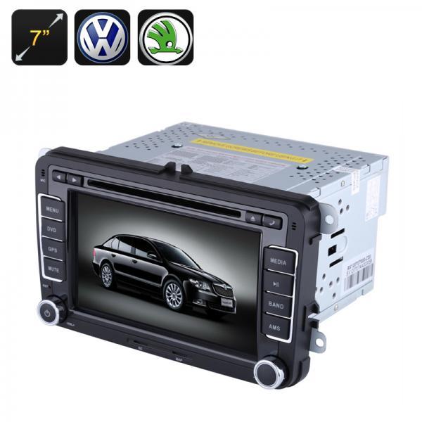 2 DIN Car DVD Player - 7 Inch Screen,GPS, Bluetooth, Region Free, FM Radio, For VW + Skoda Cars