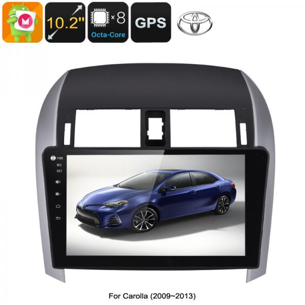 2 DIN Car Stereo Toyota Corolla - Octa Core CPU, 2GB RAM, 10.2 Inch Touch Screen, CAN BUS, GPS, Bluetooth, Android 6.0