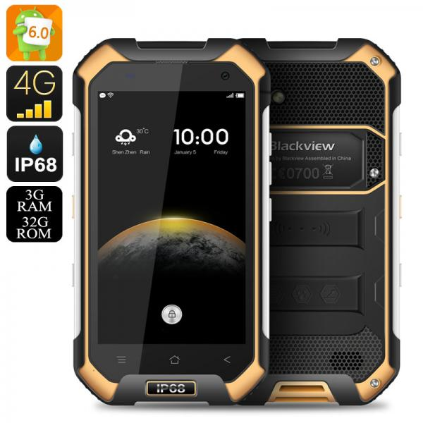 HK Warehouse Blackview BV6000 Android 6.0 Smartphone - IP68, 2Ghz Octa Core CPU, 3GB RAM, NFC, OTG, Atmospheric Sensor (Orange)