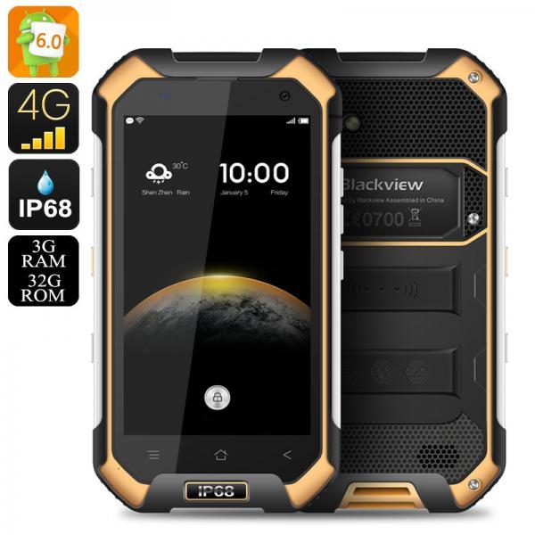 HK Warehouse Blackview BV6000 Android 6.0 Smartphone - IP68, 2Ghz Octa Core CPU, 3GB RAM, NFC, OTG, Atmospheric Sensor (Orange)